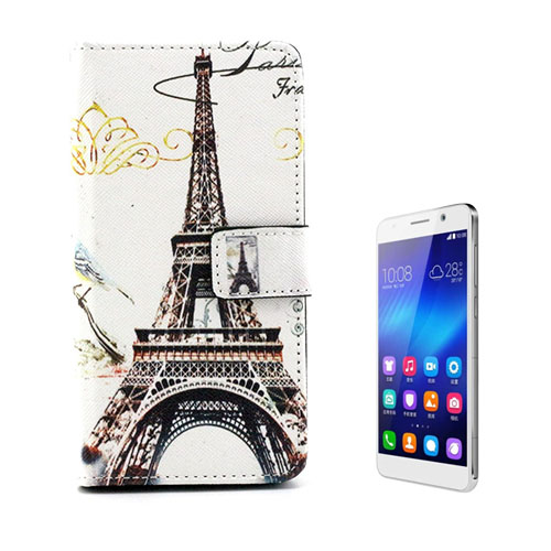 Moberg Huawei Honor 6 Läderfodral med Stativ – Eiffeltornet
