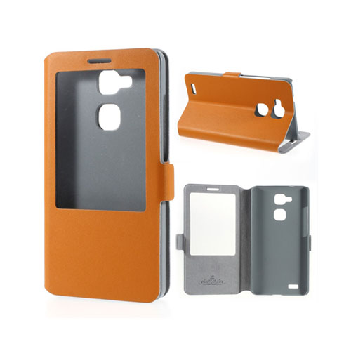 Doormoon (Orange) Huawei Ascend Mate 7 Läder Flip Fodral