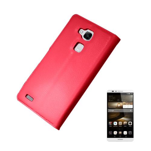 Kvist Huawei Ascend Mate7 Läder Flip Fodral – Röd