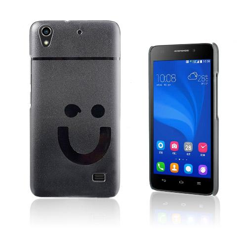 Smiling Huawei Ascend G620S Hårt Skal – Genomskinligt
