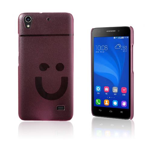 Smiling Huawei Ascend G620S Hårt Skal – Rosa