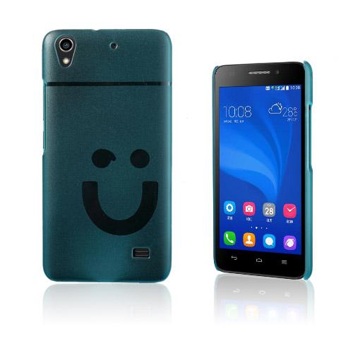 Smiling Huawei Ascend G620S Hårt Skal – Blå
