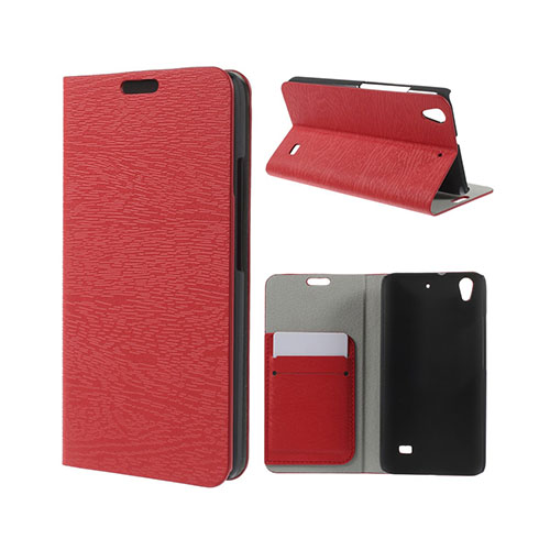 Mankell Huawei Ascend G620S Läder Fodral med Korthållare – Röd