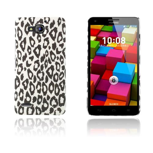 Persson Huawei Ascend G750 Hårt Skal – Vit Leopard