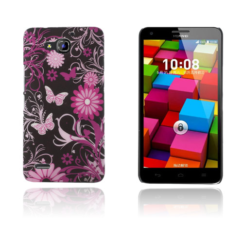 Persson Huawei Ascend G750 Hårt Skal – Fjärilar och Blommor