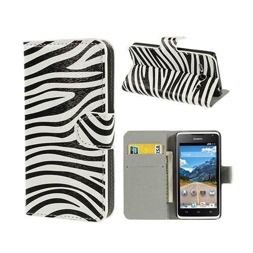 Moberg Huawei Ascend Y530 Läder Flip Fodral – Zebra Ränder