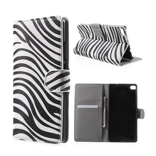 Moberg Huawei Ascend P8 Fodral med Plånbok – Zebra Ränder