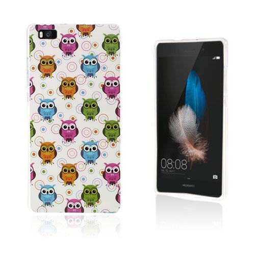 Westergaard Huawei P8 Lite Skal – Färgglada Ugglor & Cirklar
