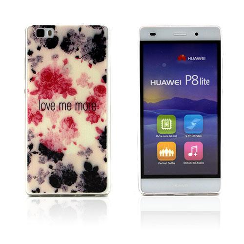 Westergaard Huawei Ascend P8 Lite Skal – Blommor och Love Me More