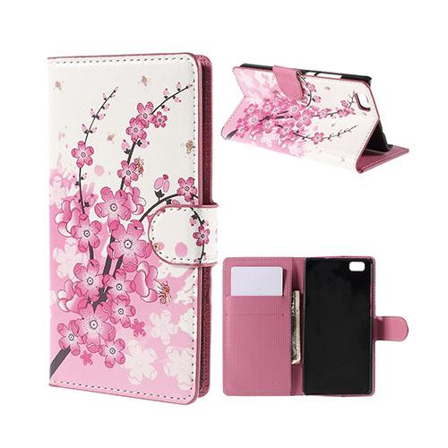 Moberg Huawei P8 Lite Fodral med Plånbok – Plommonblomster