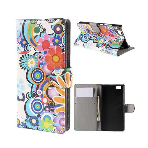 Moberg Huawei P8 Lite Fodral med Plånbok – Färgglada Blommor