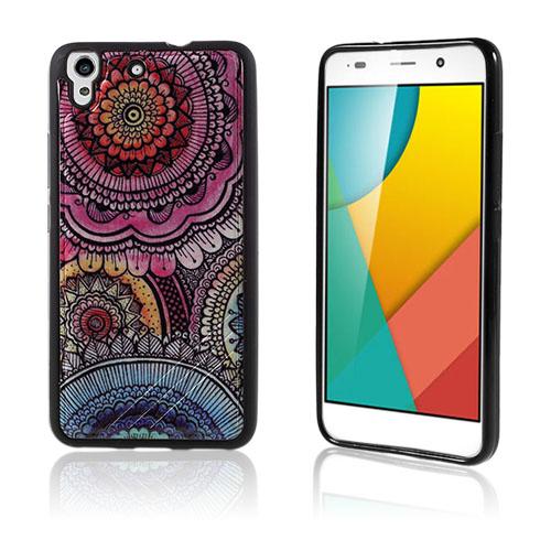 Freja Huawei Honor Y6 TPU Mjukt Skal – Retro Blommor