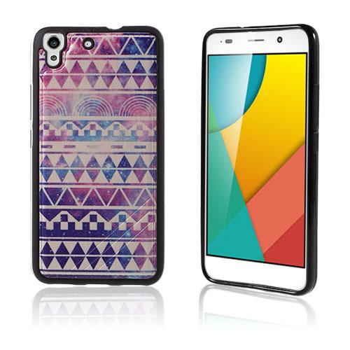 Freja Huawei Honor Y6 TPU Mjukt Skal – Geometriskt Mönster