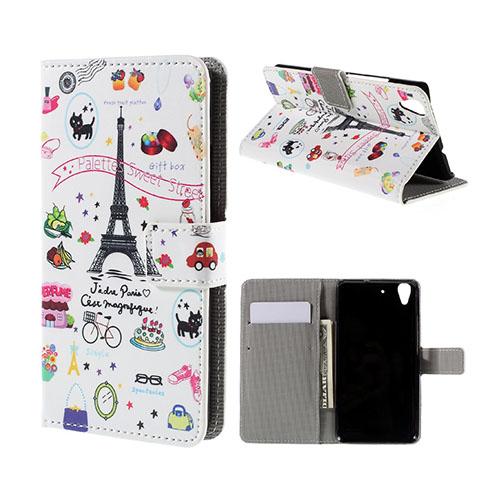 Moberg Huawei Honor Y6 Fodral – Eiffeltornet och Godis