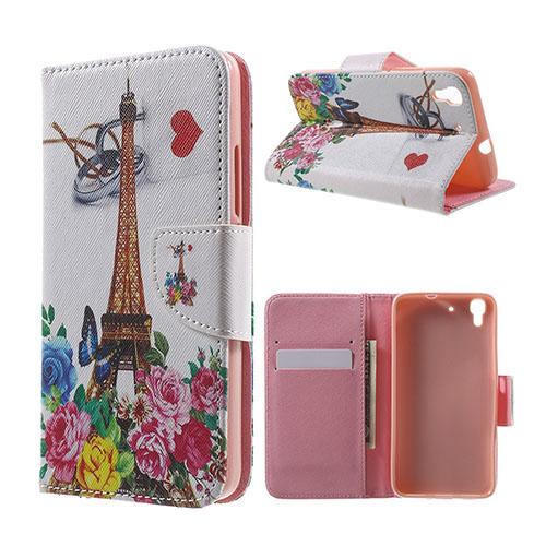 Moberg Flip Huawei Honor Y6 Fodral – Rosor och Eiffeltornet