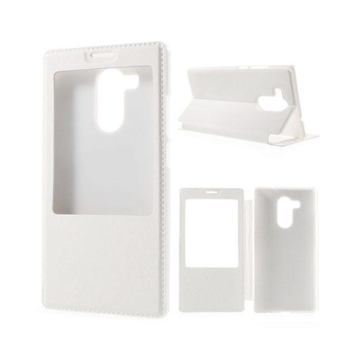 Fönster Läderfodral för Huawei Mate 8 – Vit