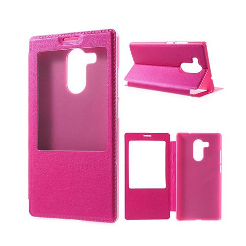 Fönster Läderfodral för Huawei Mate 8 – Varm Rosa
