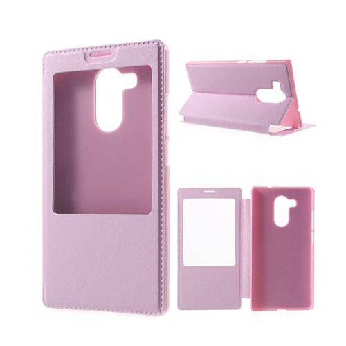 Fönster Läderfodral för Huawei Mate 8 – Rosa