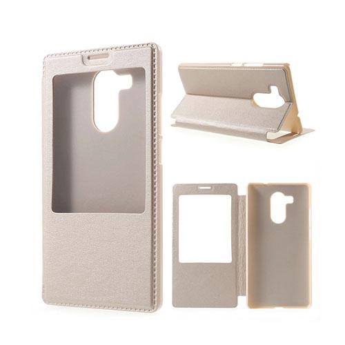 Fönster Läderfodral för Huawei Mate 8 – Champagne