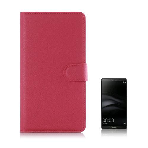 Moen Huawei Mate 8 Läderfodral med Plånbok – Varm Rosa