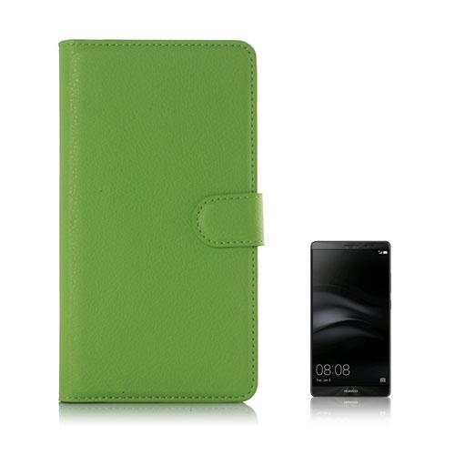 Moen Huawei Mate 8 Läderfodral med Plånbok – Grön