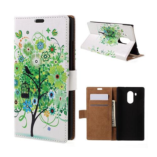 Moberg Huawei Mate 8 Läderfodral med Stativ – Grönt Blomträd