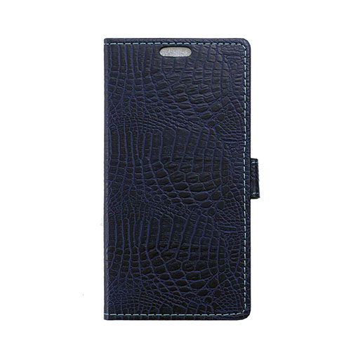 Marx Skinn Huawei Mate 8 Krokodil Läderfodral med Korthållare – Mörkblå