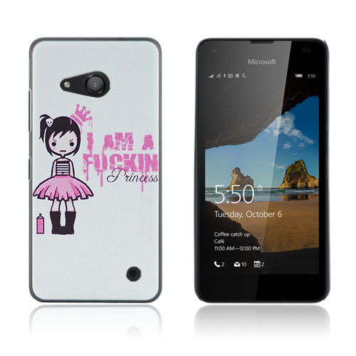Persson Microsoft Lumia 550 Hårt Skal – Cute Girl and Text