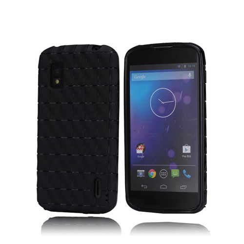 SoftGrip (Svart) LG Google Nexus 4 Skal