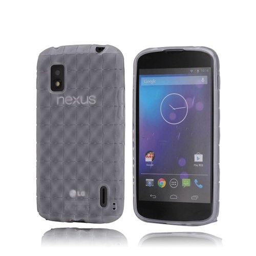 SoftGrip (Transparent) LG Google Nexus 4 Skal
