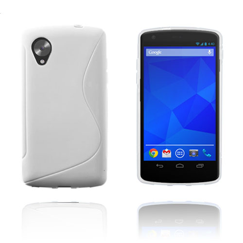 S-Line (Vit) Google Nexus 5 Skal