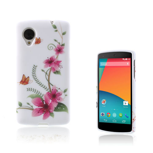 Symphony (Orange Fjärilar) Google Nexus 5 Skal