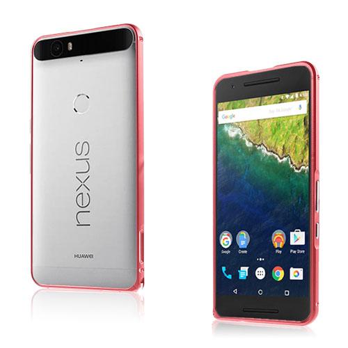 Remes Huawei Nexus 6P Metall Stötfångare – Röd