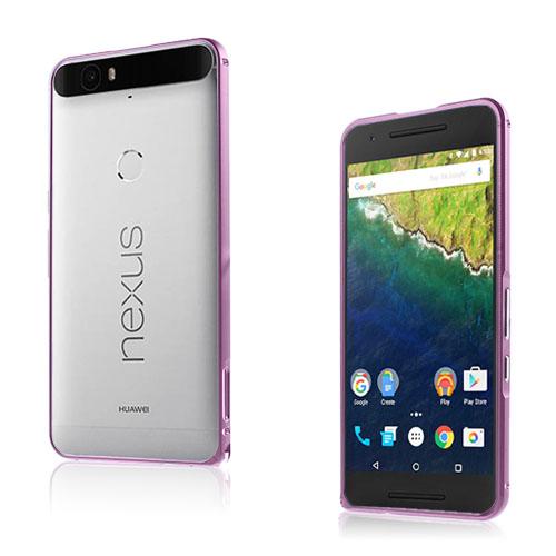 Remes Huawei Nexus 6P Metall Stötfångare – Rosa