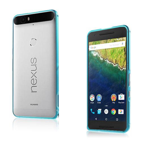 Remes Huawei Nexus 6P Metall Stötfångare – Ljusblå