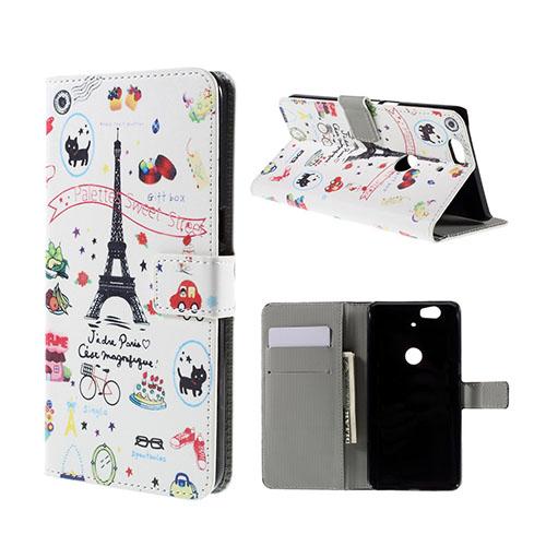 Moberg Google Nexus 6P Fodral – Eiffeltornet och Frukt