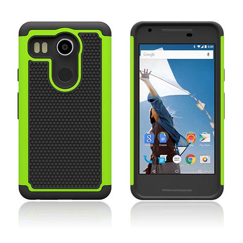 Fotboll Fiber LG Nexus 5X Hybrid Skal – Grön
