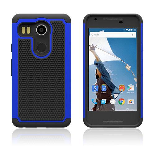 Fotboll Fiber LG Nexus 5X Hybrid Skal – Blå