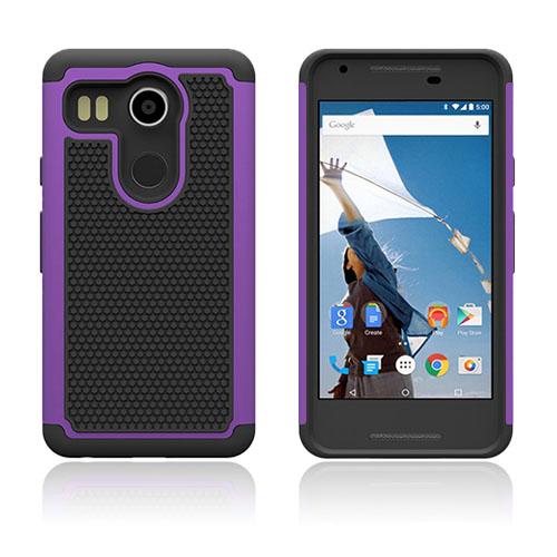 Fotboll Fiber LG Nexus 5X Hybrid Skal – Lila