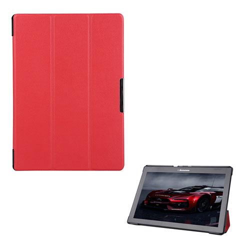 Garff Lenovo Tab 2 A10-70 Läderfodral med Stativ – Röd
