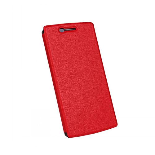Kvist OnePlus One Läder Stativ Fodral – Röd