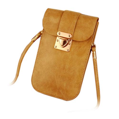 Väska till Smartphones Inom 5.5 Inches – Brun
