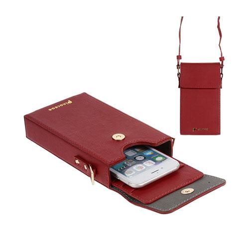 Vertikal Flip-Väska till Smartphones – Röd