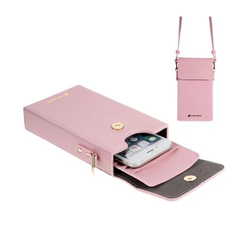 Vertikal Flip-Väska till Smartphones – Rosa