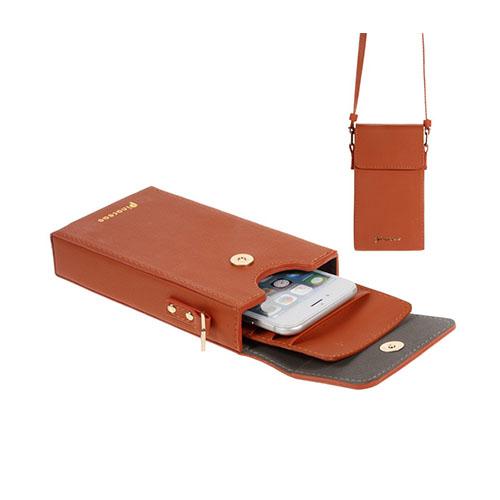 Vertikal Flip-Väska till Smartphones – Orange
