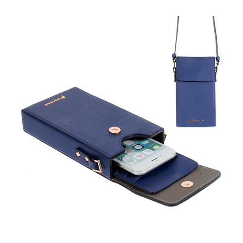 Vertikal Flip-Väska till Smartphones – Blå