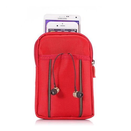 Sports 3-Pocket Väska till Smartphones – Röd