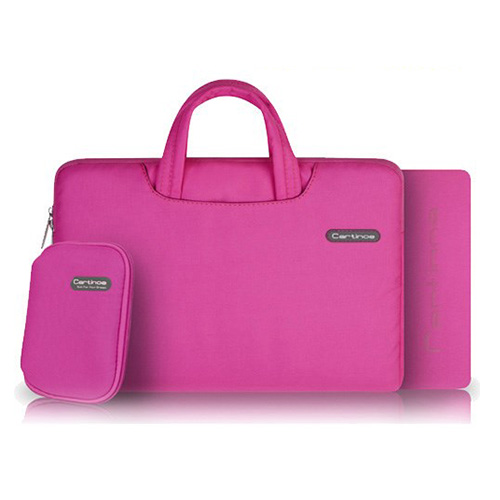 Cartinoe (Rosa) Macbook Pro 11.6 Tyg Väska med Dragkedja