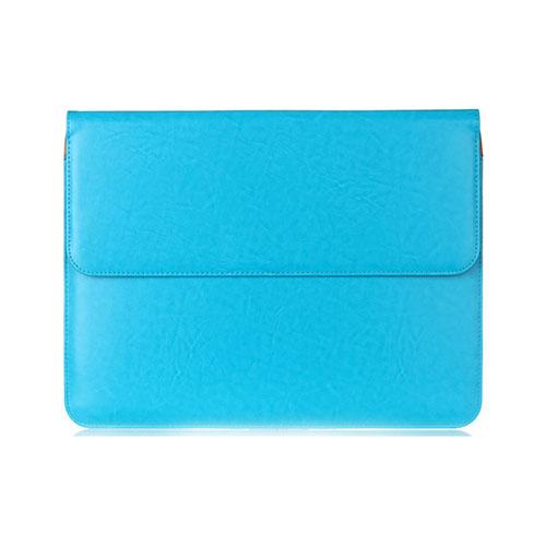 Slim Läderfodral för 11-12″ Enheter – Ljusblå