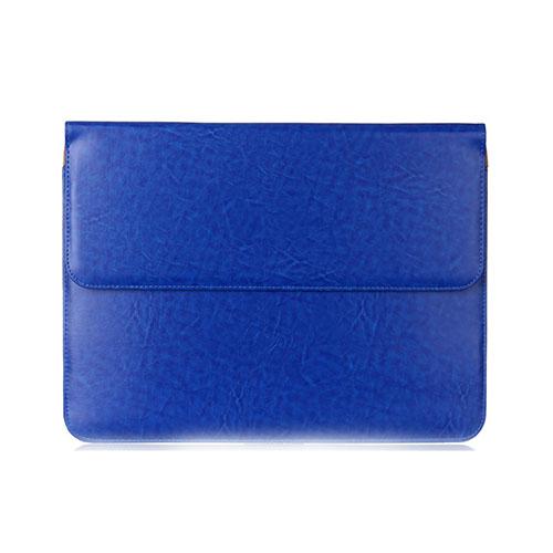 Slim Läderfodral för 11-12″ Enheter – Mörkblå